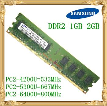 Samsung Desktop memory 1GB 2GB 4GB DDR2 533 667 800MHz PC2-5300 6400U PC RAM 800 6400 2G 240-pin  Price: 16.25 USD