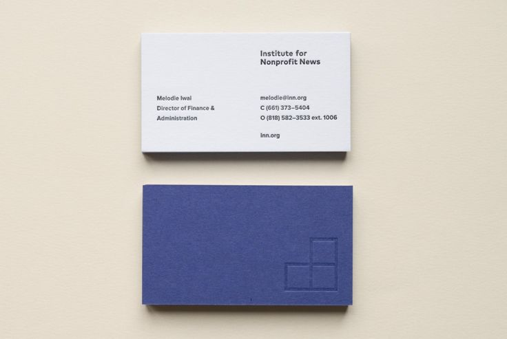 Institute for Non Profit - Business Card Design Inspiration | Card Nerd