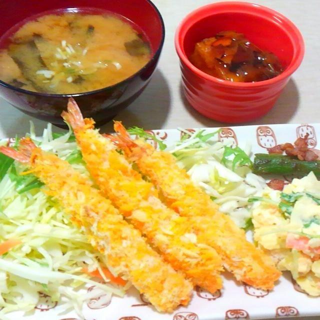 ノンフライヤーで海老フライ(^^) - 13件のもぐもぐ - ダイエット中の夕御飯 by mahoxx