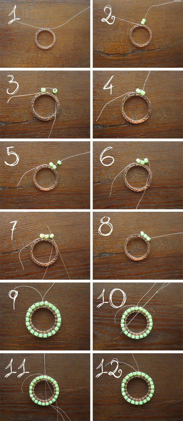 First Round - bead weaving tutorial