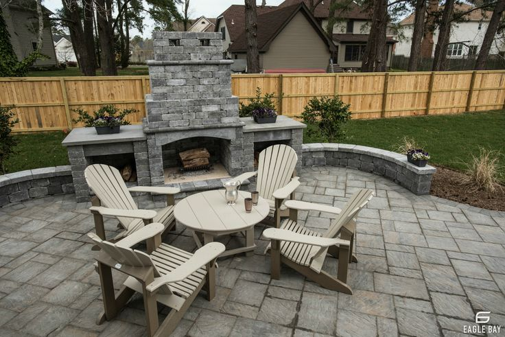 Backyard Patio Ideas Fireplace