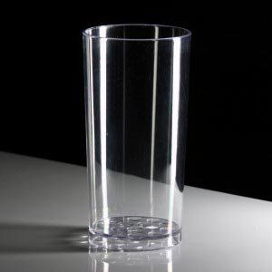 Virtually Unbreakable Polycarbonate Straight Plastic Half Pint Glass (Pack of 8)