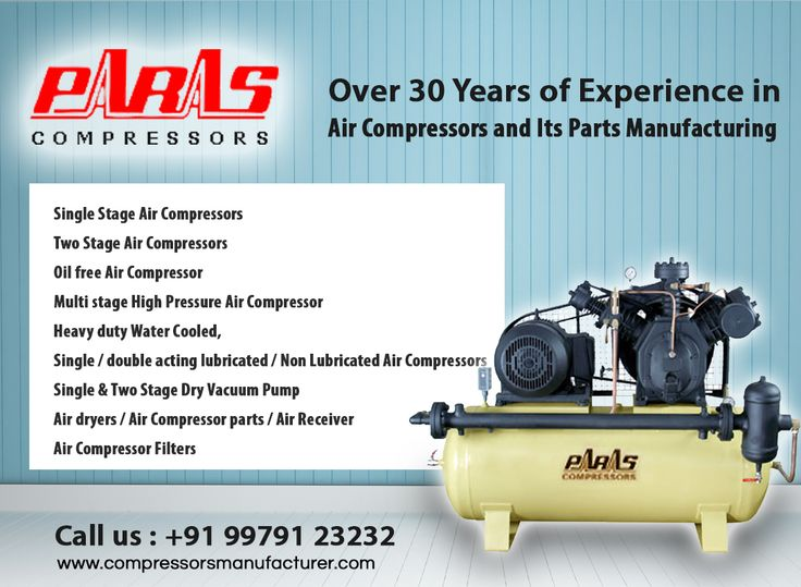 Our Wide Range of products include :  *Single Stage Air Compressors *Two Stage Air Compressors *Oil free Air Compressor *Multi stage High Pressure Air Compressor *Heavy duty Water Cooled,  *Single / double acting lubricated / Non Lubricated Air Compressors *Single & Two Stage Dry Vacuum Pump *Air dryers *Air Compressor parts *Air Receiver   #compressor #aircompressor #compressormanufacturer