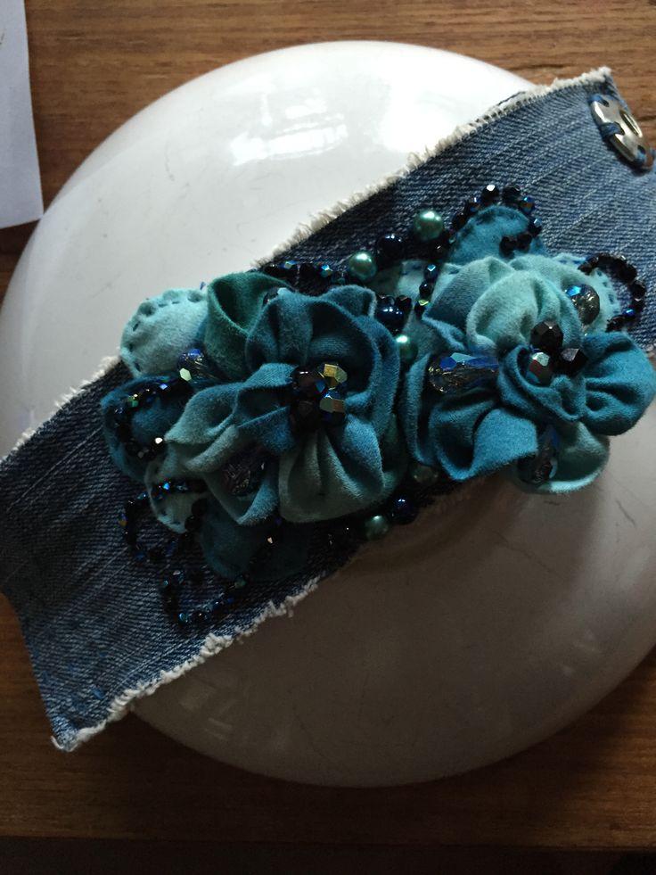 Denim cuff by MarVal.Us designs