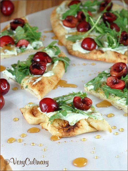 Pizza with Herbed Mascarpone and Arugula | Mascarpone, Mascarpone ...