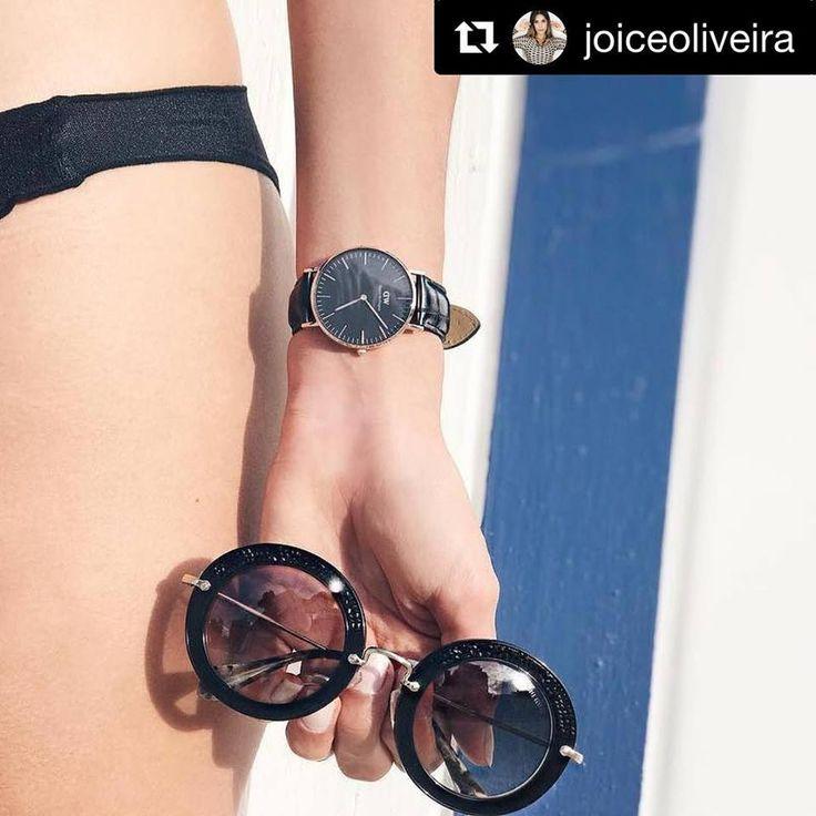 😉 #Repost @joiceoliveira ・・・ A vida é feita de momentos. Aproveite!   . . . . . . . . . . . . #danielwellington #lovedanielwellington #dw #dwclassicblack #dwclassic #dw #dwlovers #watch #beach #love #relogio #luxury #brand #pink #details #mood #dujour #dehoje #ootd #ootn #bracelet #iphone7 #iphone #glasses #sunglasses #illesteva #oticaswanny #clientewanny