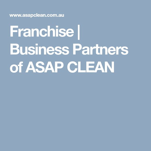Franchise | Business Partners of ASAP CLEAN