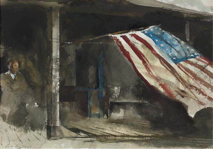 Jour de l indépendance de Andrew Wyeth (1917-2009, United States)