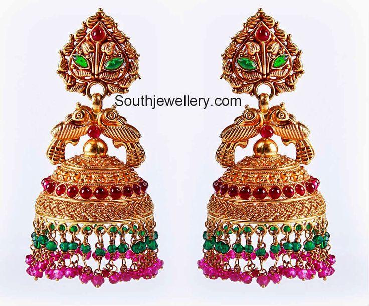 latest gold jhumka designs bhuttalu
