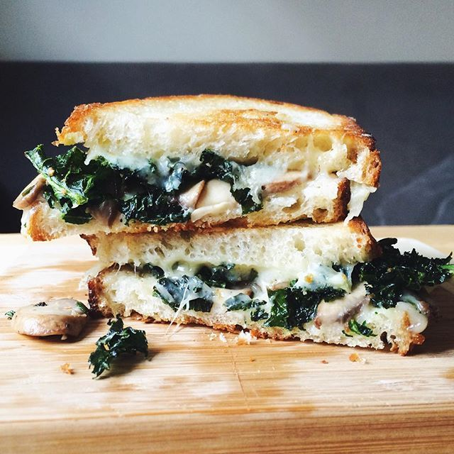 It's officially December. Go forth, and make grilled cheese. This is a Gruyere & aged cheddar…