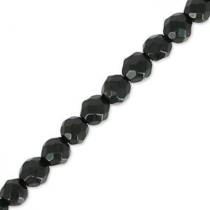 Tonde sfaccettate mm.  2 Onyx Noir x38cm : Perle tonde sfaccettate. Attenzione, ogni pietra è unica e puo`essere molto differ