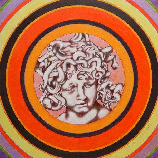 """Decorazioni da parete - """"Medusa del Bernini"""". Dipinto ad olio originale. - un prodotto unico di federico-cortese su DaWanda"""