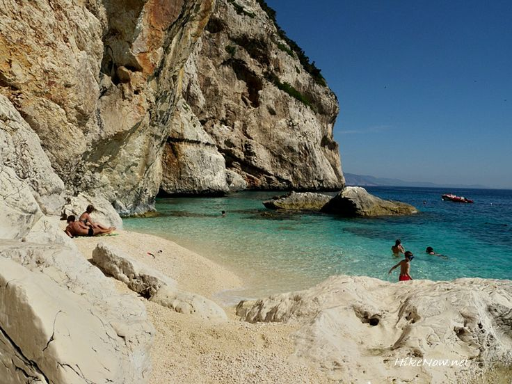 The shallowness of the water in the Cala Mariolu let children play on the shore without dangers - Orosei Gulf Sardinia