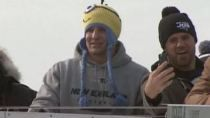 Rob Gronkowski Wears Minion Hat To Parade, Still Very Much Loving Life (Video)