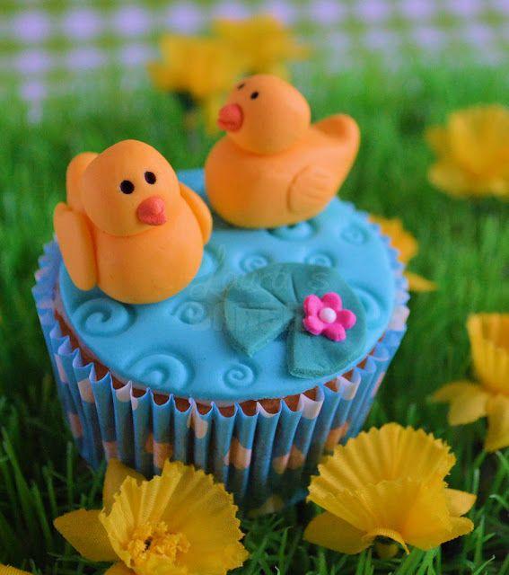 eenden cupcakes