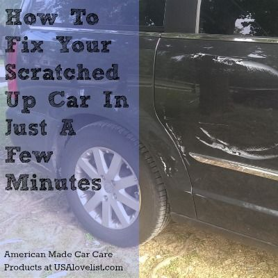 how to fix scratched plastic in car