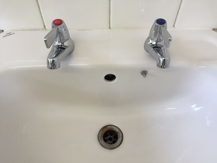 AFTER - That's better! A lovely clean sink after a deep clean at an animal feed mill!