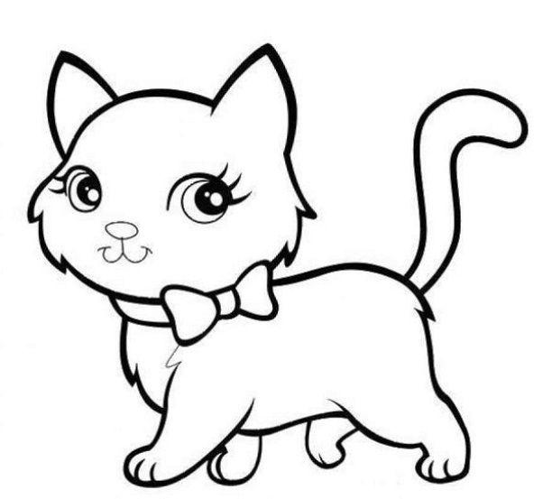 Mewarnai Gambar kucing Yang Lucu