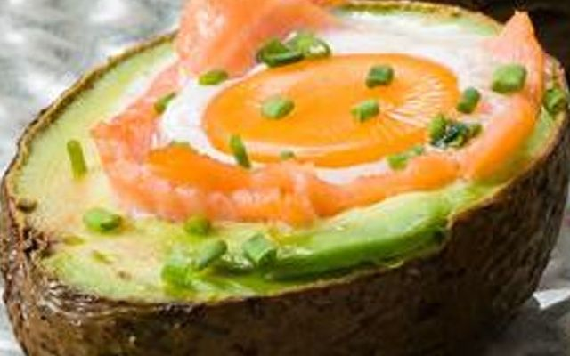 Egg & salmon stuffed avocado » The Blood Sugar Diet by Michael Mosley