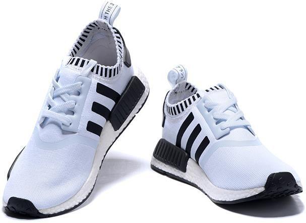 Adidas NMD Runner White Black men women1