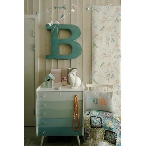 ombre dresser in shades of blue-green