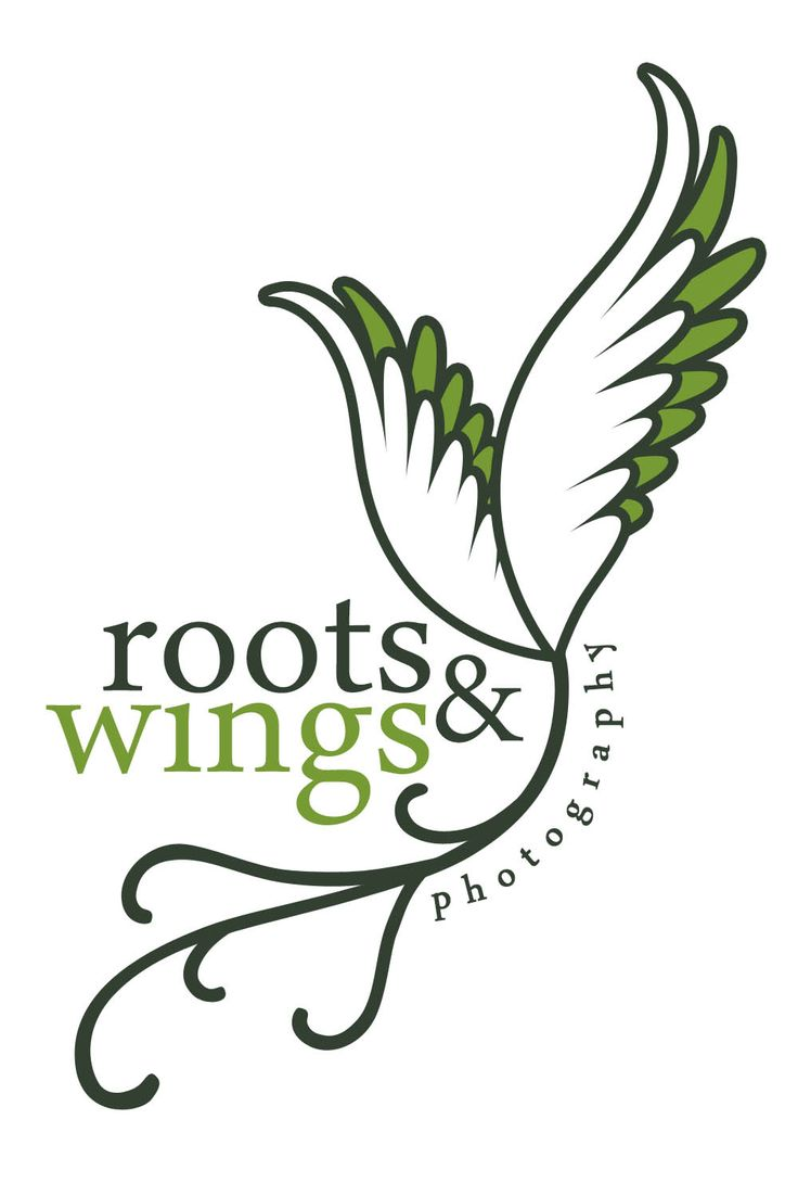 simple and clean but conveys the idea of roots and wings