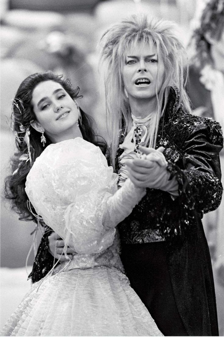 Connelly and Bowie share a dance on the set. Author Paula Block says this photo of the actors