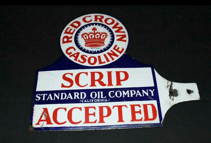 Original Standard Oil Company of California Porcelain Sign