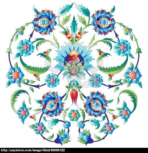 Ottoman art flowers seven