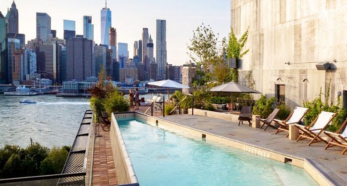 The Best Restaurants In Brooklyn Will Convince You To Cross That Bridge Brooklyn Hotels Pool Landscaping New York Landscape