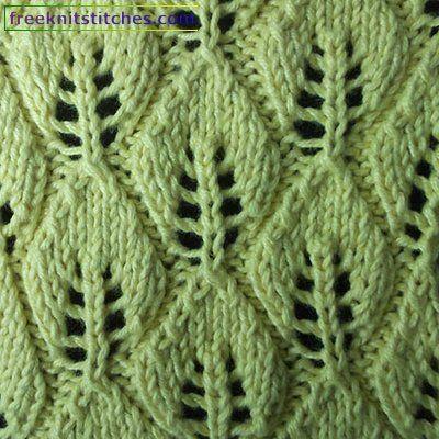 118 Best Leaves Images On Pinterest Knitting Patterns Knitting
