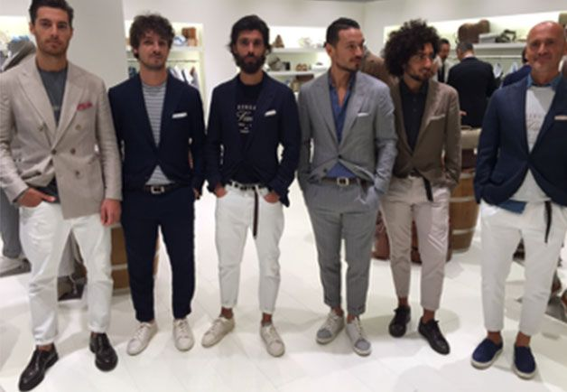 """The dressed-down tailored look at Brunello Cucinelli."", Pitti Uomo."