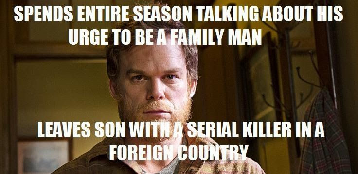 It didn't make sense to me either lol... Fan Art of Dexter memes for fans of Dexter.