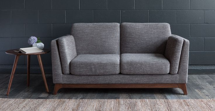 Ceni Volcanic Gray Loveseat - Loveseats - Article | Modern, Mid-Century and Scandinavian Furniture $799