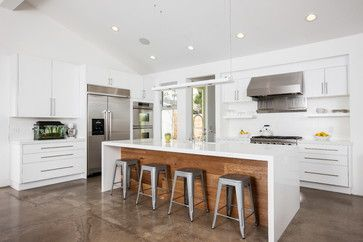 open shelves plus overheads ... from Houzz