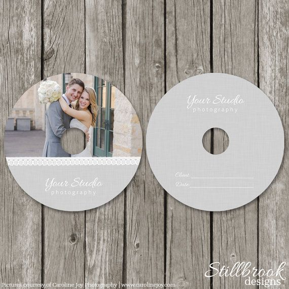 CD/DVD Label Templates - Wedding Photography CD Label Cover - Photo Dvd Packaging Design