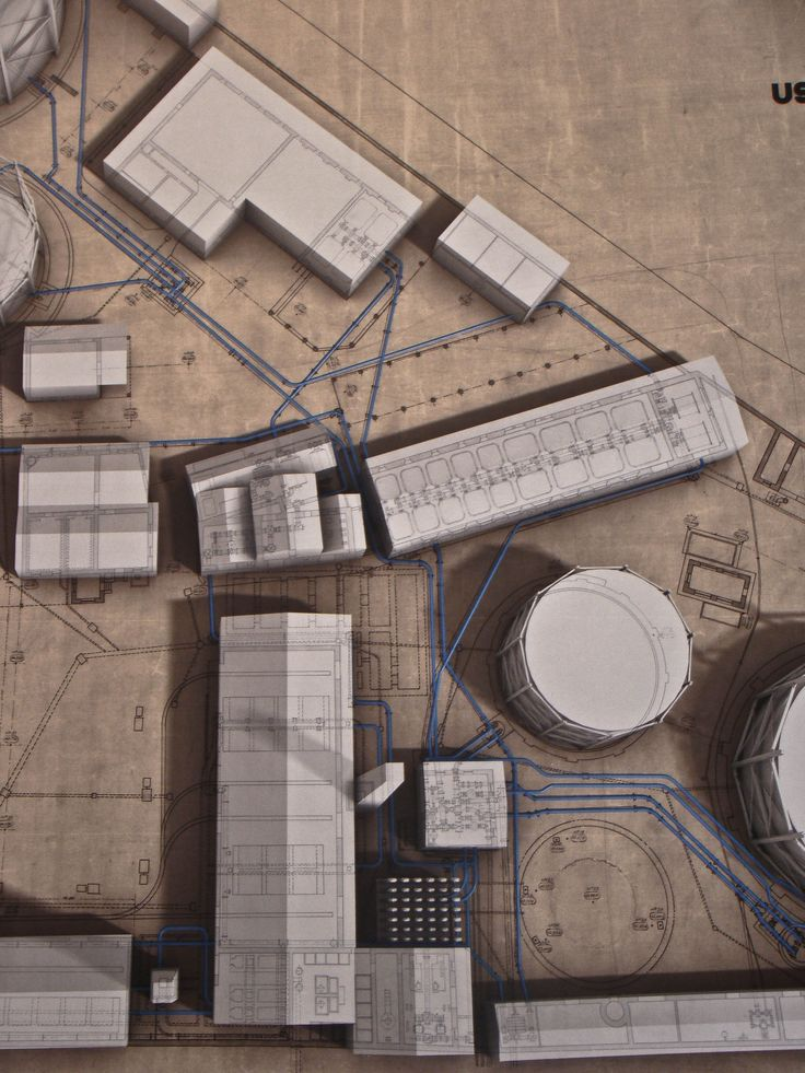 A beautiful 3D model-painting demonstrating the master plan of the industrial area