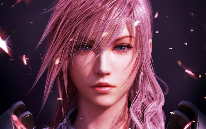 Descargar fondos de pantalla El rayo, el personaje principal de Final Fantasy XIII