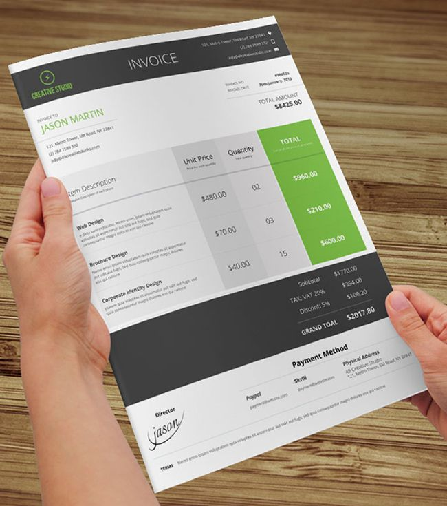 8 best invoice design images on Pinterest Architecture - invoice design template
