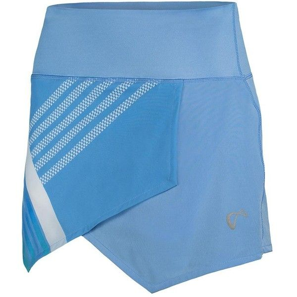 Be fashion forward on the court in the Athletic DNA Women's Stripe Origami Tennis Skort in Vista! This skort has a cool, diagonal print that covers the top layer. The color is a relaxing pastel for spring. Built-in shorts included and the second layer has the brand's logo in gray.