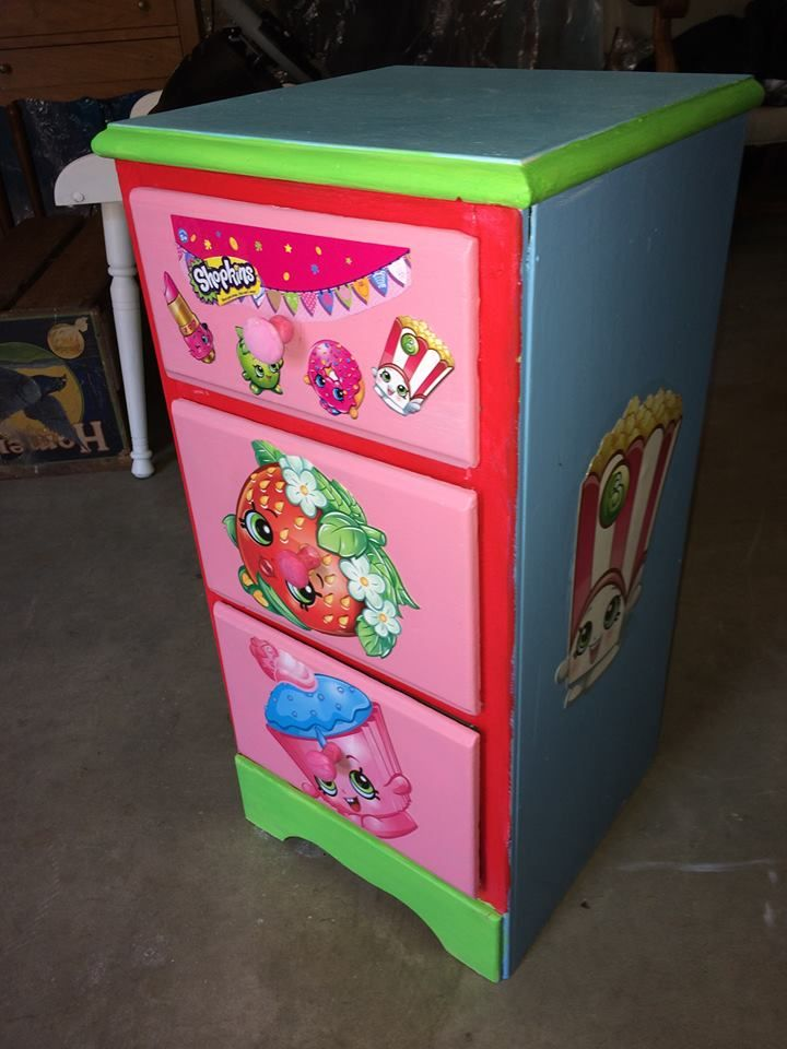 SHOPKINS Diy Nightstand / Storage