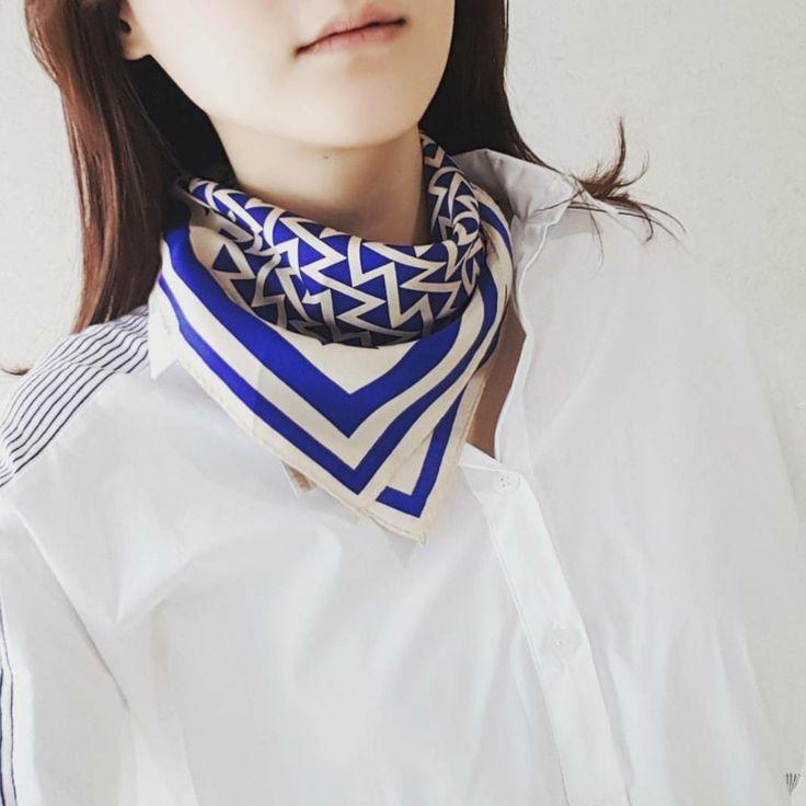 여성패션 플로우로우 실크 쁘띠스카프  flowlow fashion silk petit scarf