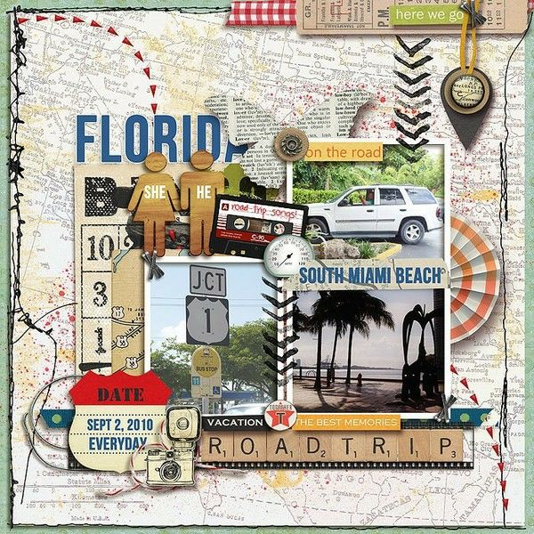 vacation scrapbooking page | Travel scrapbooking ideas