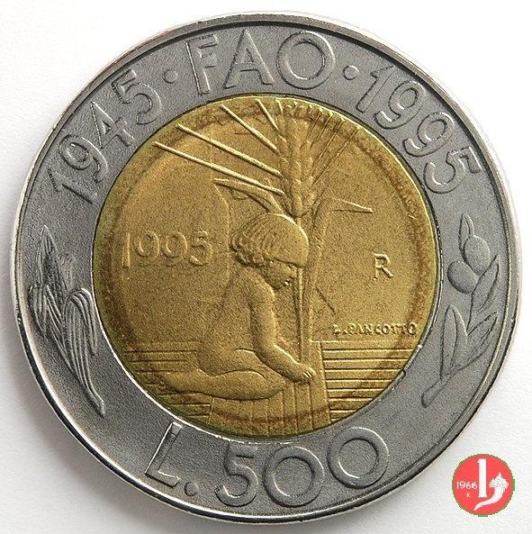 500 Lire S.Marino impegno sociale per il terzo millennio Cinquecentenario F.A.O. 1945-1995