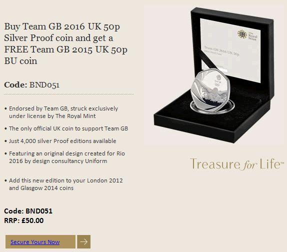Buy Now: http://www.coincommunity.com/go/_to.asp?target=http://www.royalmint.com/shop/Team_GB_2016_UK_50p_Silver_Proof_Coin  Buy Team GB 2016 Uk 50p Silver Proof Coin and Get a Free Team GB 2015 Uk 50p Bu Coin - Coin Community Forum