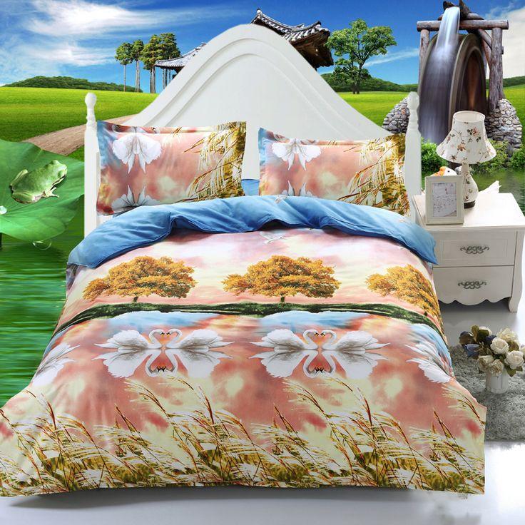 Home Textiles,Classic Love Model 3D Bedding Sets 4Pcs Duvet Cover Bed/Flat Sheet Pillowcase Queen Size Bedclothes #Affiliate