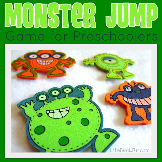 Little Family Fun: Monster Jump Game for Preschoolers