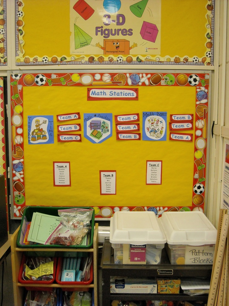 Decoration Ideas For Math Classroom ~ Math corner stations board posters all