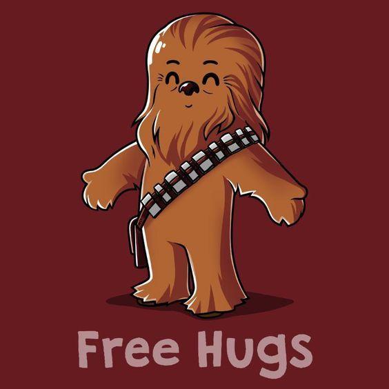 Tô aceitando abraços de graça! :)   #chewbacca #fanart #starwars