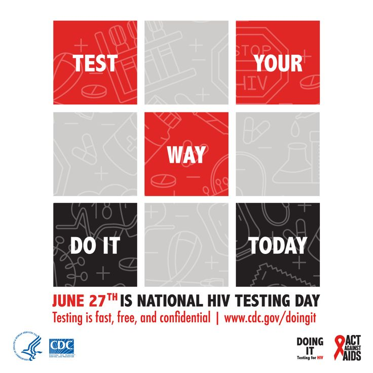 June 27th is National HIV Testing Day.  Test Your Way Do It Today.  Testing is fast, free, and confidential www.cdc.gov/doingit